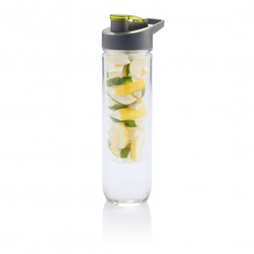 Water bottle with infuser, greenP436.057