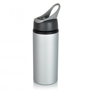 Aluminium sport bottle, greyP436.560