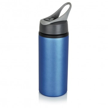 Aluminium sport bottle, blueP436.565