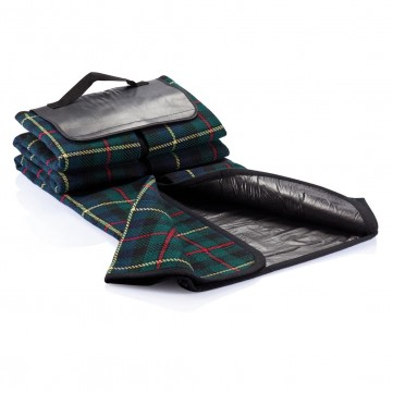 Tartan picnic blanket, blackP459.610