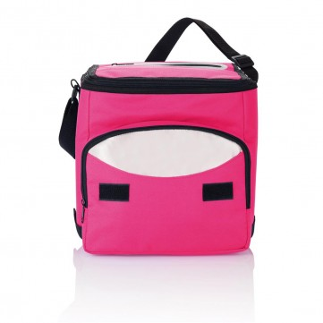 Foldable cooler bag, pink/silverP733.190