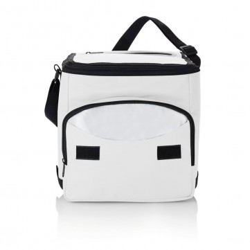 Foldable cooler bag, white/silverP733.193