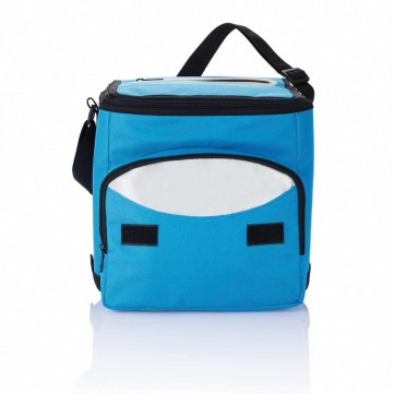 Foldable cooler bag, blue/silverP733.195