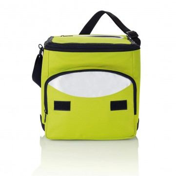 Foldable cooler bag, green/silverP733.197