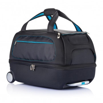 Milano weekend bag on wheels blueP750.075