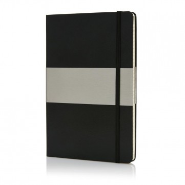 A5 squared hardcover notebook, blackP773.201