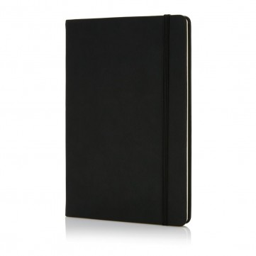 Deluxe hardcover PU A5 notebook, blackP773.421