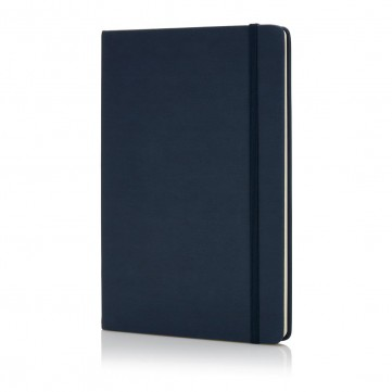 Deluxe hardcover PU A5 notebook, navyP773.42-config