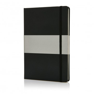 Deluxe hardcover A5 notebook, blackP773.531