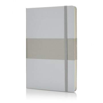 Deluxe hardcover A5 notebook, silverP773.532