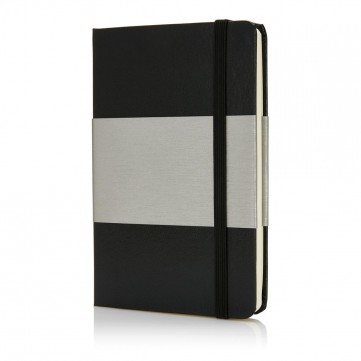 Deluxe hardcover A6 notebook, blackP773.541