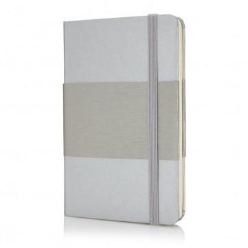 Deluxe hardcover A6 notebook, silverP773.542