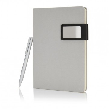 A5 Prestige notebook set, silverP773.472