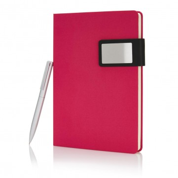 A5 Prestige notebook set, pinkP773.474