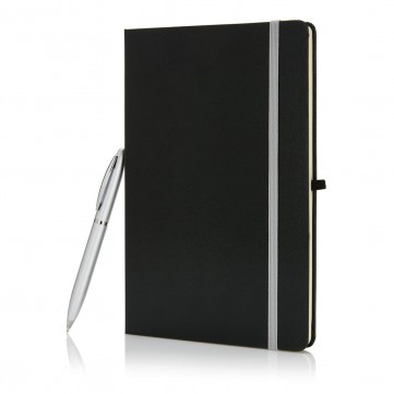 A5 size notebook with pen in gift box,P773.56-config