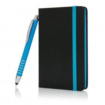 A6 notebook with touch pen blueP773.915