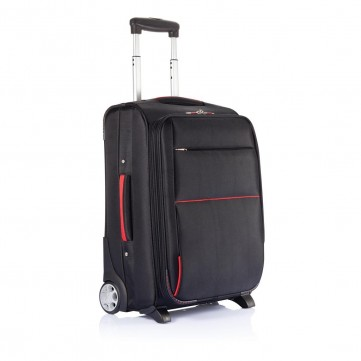 Extendable cabin trolley PVC free, blackP775.061