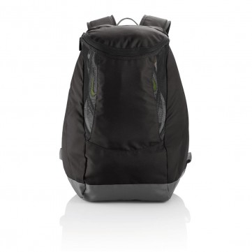 Backpack with sport shoe compartment, blackP775.301