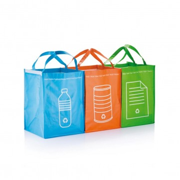 3pcs recycle waste bags, greenP795.007