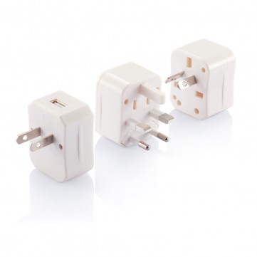3 pcs travel plug with USB portP820.363