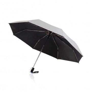 """Deluxe 21,5"""" 2 in 1 auto open/close umbrella, silverP850.362"""
