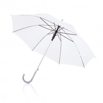 "Deluxe 23"" aluminium umbrella whiteP850.283"