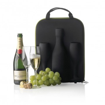 Flute champagne carrier, greenP911.311