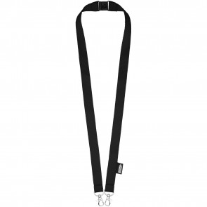 Adam recycled PET lanyard with two hooks