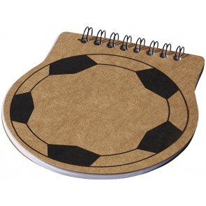 Score football-shaped notepad