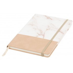 Two tone A5 marble notebook
