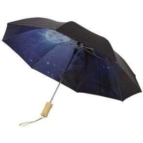 "21"" Clear night sky 2-section automatic umbrella"