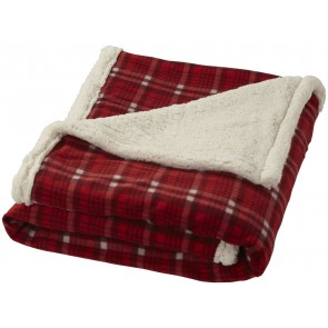 Joan sherpa plaid blanket