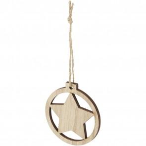 Natall wooden star ornament