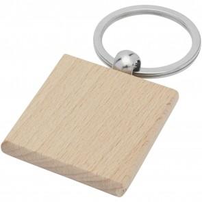 Gioia beech wood squared keychain