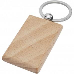 Gian beech wood rectangular keychain