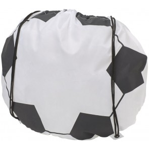 Penalty football-shaped drawstring backpack