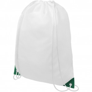 Oriole drawstring backpack with coloured corners