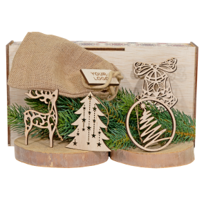 Set decoratiuni in saculet Craciun - AXD0519