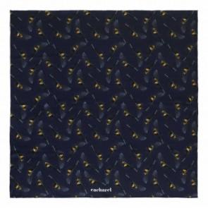 Silk scarf Victoire Navy