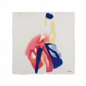 Silk scarf Demoiselle Blanc