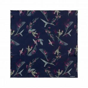 Silk scarf Iris Navy