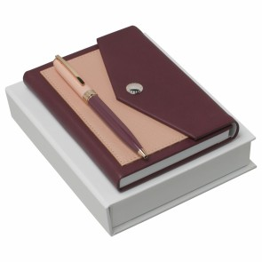 Set Bird Bordeaux (ballpoint pen & note pad A6)