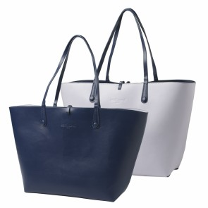 Shopping bag Tourbillon Reversible Bleu-Lilas