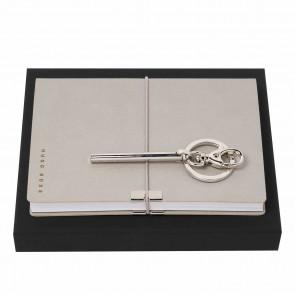 Set HUGO BOSS (note pad A6 & key ring)
