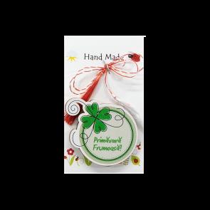 Decoratiune Martisor M0121 - Trifoi rotund