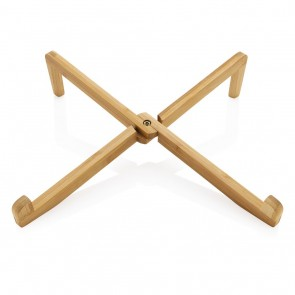 Bamboo portable laptop stand, brown