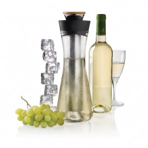 Gliss white wine carafe, black