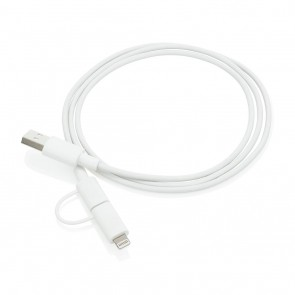 2-in-1 cable MFi licensed, white