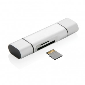 Universal card reader with type C, grey