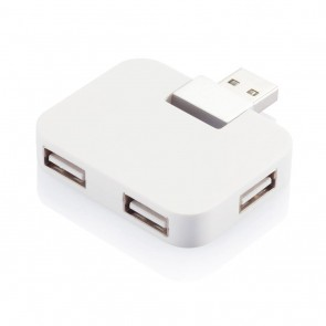 Travel USB hub, white